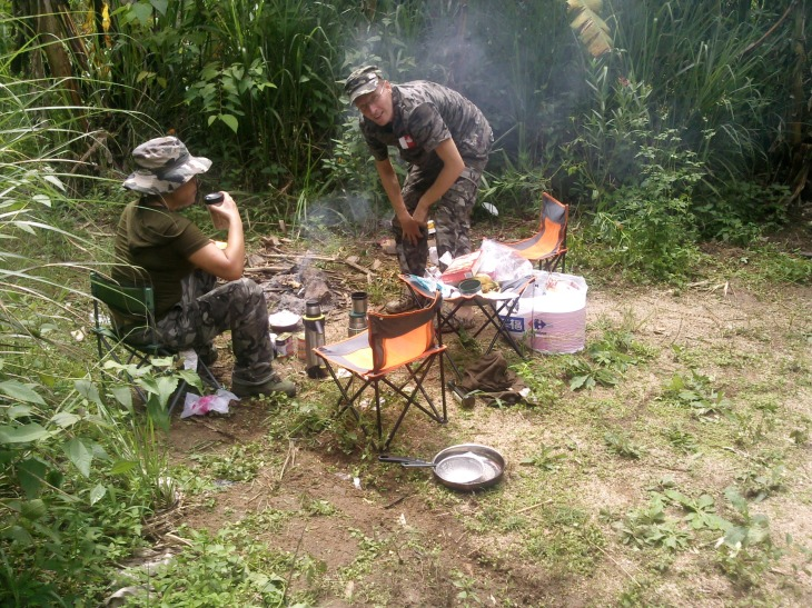 Camping with Egor from Russia
